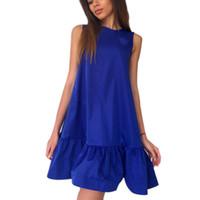 Wholesale kawaii chiffon dress online - Sexy Ruffles Sleeveless Beach Dresses Casual A Line Party Solid Women Mini Dress Loose Summer Dresses Kawaii GV248