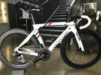carbon road bikes verkauf großhandel-Cipollini RB1K DIE EINS OEM DIY Rot Weiß BOB Vollcarbon Rennrad Komplettrad Mit R7000 / R8000 Gruppe Zum Verkauf