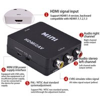 ingrosso av adattatore per computer portatile-Adattatore da AV a HDMI Video HD 1080P Audio Adattatore per PC Laptop TV Computer USA / HDTV / Laptop / Proiettore in cavo audio video
