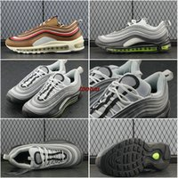 Wholesale Neon Casual Shoes - Air 97 Plus TN CR7 white Green Neon TT PRM Running Shoes Swarovski Vlone Mens ULTRA silver Camo Casual Sports Sneakers 40-45 921733-003