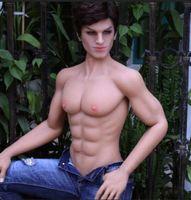 weibliche größe sex puppen großhandel-168cm Leben Größe Platin lebensechte Silikon Muskel starke männliche Geschlechtspuppe für weibliche Masturbation