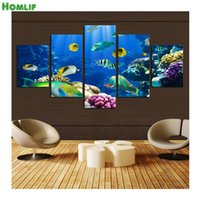 "Wholesale Underwater Paint - 5pcs,D diamond embroidery""The underwater world"" home decor picture,Diy 5d diamond Painting cross stitch,diamond mosaic crafts"
