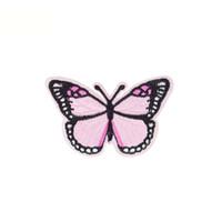 ingrosso farfalla patch ricamata in ferro-10 pezzi farfalla patch badge caldi per abbigliamento ferro ricamato patch applique ferro sulle toppe accessori per il cucito per i vestiti