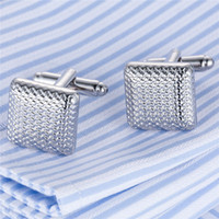 Wholesale mens button jewelry - 1 Pair Shirt Square Shape Cufflink For Mens Enamel Retro Jewelry Cuff Link Luxury Male Wedding Button French Father's day Gifts Wholesale