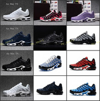 Wholesale sports plus shoes resale online - TN Plus Men Running Shoes Tns Nanotechnology KPU Material Classical Durable Mens Trainers Zapatos Sports Sneakers Size