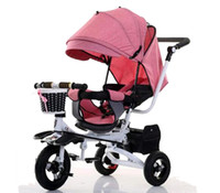 dreirad fahrrad kind großhandel-Neue Kinder Dreirad Baby Fahrrad Kinderwagen