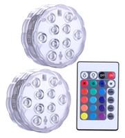 c7 c9 führte glühbirnen großhandel-Unterwasser-LED-Leuchten, ferngesteuert, batteriebetrieben, RGB-wechselndes wasserdichtes Licht für Event-Partys und Heimtextilien, 2er-Set