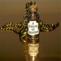 Wholesale bronze chain heart charm resale online - 12pcs A Touch of Destiny Necklace Bronze Heart Charm Will Turner Tia Dalma