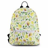 ingrosso zaini di pesca-Borse Donna Zaini giornalieri per la scuola Cute Peach Banana Pera Pattern Bag Confezione Mori Girl