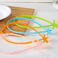 пластиковый крюк оптовых-Пластиковый канализационный крюк ванная комната туалет кухня змея форма слива волос засоритель анти-блокирующий инструмент для очистки зеленый розовый 0 55cq B