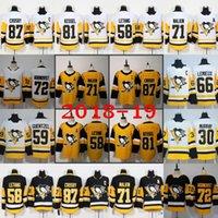 jerseys pingüinos al por mayor-87 Sidney Crosby Pittsburgh Penguins Tercer tercer jerseys alternativos Evgeni Malkin Kris Letang Jake Guentzel Phil Kessel Murray Hornqvist Kessel