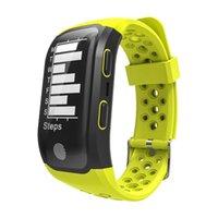 bracelete de escalada venda por atacado-EnohpLX S908 Banda Inteligente GPS Smartwatch IP68 À Prova D 'Água Freqüência Cardíaca de Fitness Rastreador Inteligente Pulseira Passos de Natação de Equitação Modo de Escalada