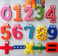 Wholesale Magnetic Wooden Numbers Math Set Digital Baby Educational Toy Kid Children Child Creativity Imagination Education