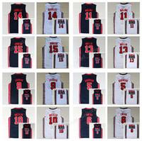 Wholesale Magic Bird - Basketball Jerseys College 1992 USA Dream Team One 8 Scottie Pippen Jersey 14 Charles Barkley 11 Karl Malone 15 Magic Johnson 7 Larry Bird