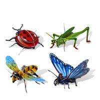 Wholesale penguin types resale online - 8 Types Colorful Cute Penguin D Stereo Puzzle Insect Puzzle Module Wood Child Puzzle Toy Student DIY Birthday Gift