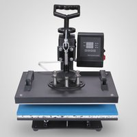 Wholesale t shirt presses - 12 X 15 Inch 5 in 1 Digital Multifunctional Sublimation T Shirt Heat Press Machine 900W 360 Degree Rotation Heat Press Machine