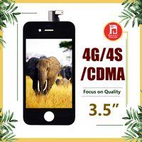 iphone 4s bedava toptan satış-IPhone 4 4 S için CDMA GSM LCD Ekran Dokunmatik Digitizer Komple Ekran Çerçevesi ile Tam Meclisi Değiştirme DHL Ücretsiz Nakliye
