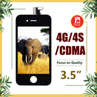 ingrosso telaio di montaggio lcd 4s-Per schermo LCD completo del convertitore analogico / digitale di tocco dell'esposizione LCD di CDMA GSM di iPhone 4 4S con la sostituzione completa dell'Assemblea della struttura DHL libera il trasporto