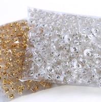 fişler toptan satış-Takı kulak tıkacı high-end küpe fişler DIYproduct aksesuarları silikon kulaklar sıkışmış tutkal kulak oğlu kulak kap gümüş plastik