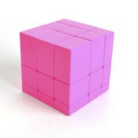 ingrosso 3x3x3 cubo specchio-3x3x3 Magic Mirror Cube Professional Magic Cast rivestito Puzzle Speed Cube Learning Education Giocattoli per bambini Magic Cube