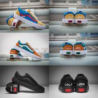 Wholesale pro ups - 2018 GOLF WANG X Vans OLD SKOOL Pro Old Skool Skateboard Shoes zapatillas de deporte Women men Black Casual Canvas Sport Sneakers