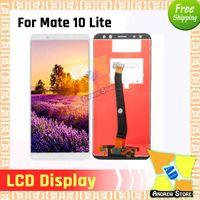 iphone 5s ekran ön kamera toptan satış-1 adet LCD Için Huawei Mate 10 lite Nova 2i LCD Ekran Dokunmatik Ekran Digitizer Meclisi Değiştirme ücretsiz kargo