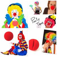 magische schaumkugeln großhandel-Magische rote Schwammkugeln Clip Schaum Clown Nase Kostüm Party Kostüm Cosplay Comic Halloween Weihnachtsfeier liefert Kinder Geschenk FFA673