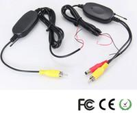 moniteur de stationnement vidéo sans fil achat en gros de-2.4G Module Récepteur Transmetteur Modulaire Contact Voiture Vidéo DVD Moniteur Caméra de Recul Capteur de Stationnement DC 12V 5V PAL / NTSC