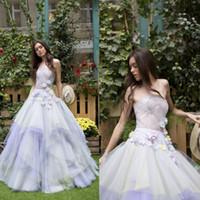 Wholesale strapless gradient prom dress resale online - Sexy Illusion Strapless Prom Dress Gradient Color D Floral Applique Tiered Skirts Tulle Party Evening Dresses