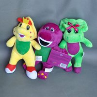 """Wholesale bj video - Hot New 3Pcs Lot 7"""" 18CM Barney Baby Bop Bj Plush Doll Pendant Anime Collectible Dolls Stuffed Party Gifts Soft Toys"""