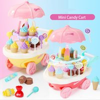 New Hot 4 Types 1 Pcs Mini Candy Cart Small Ice Cream Shop Supermarket  Children U0027s Toys Kitchen Cart Brinquedos Menina Baby Toys