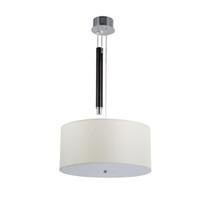 ingrosso lampada moderna sospesa-Lampada a sospensione sospesa moderna semplice elegante D45cm in tessuto a tamburo sospesa per lampada da sala da pranzo