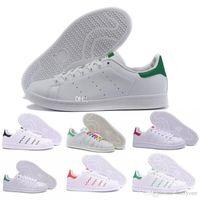 sapatos de corrida de qualidade para homens venda por atacado-2018 mulheres de qualidade Superior homens new stan shoes moda smith sneakers casual couro esporte tênis