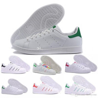 Wholesale low top running shoes resale online - 2018 Top quality women men new stan shoes fashion smith sneakers casual leather sport running shoes