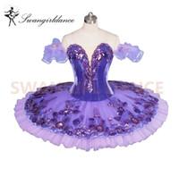 lilas violet achat en gros de-Violet Lilas Fairy Classique Ballet Tutu Pancake Professionnel Filles Plateau Tutu Violet Professionnel Ballet Tutu AdultesBT9043