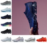 Wholesale Red Light Platinum - wholesale 2018 Vapormax Mens Running Shoes be true Pure Platinum Night day to night CLOT For Men Sneakers Women Athletic Sport trainers Shoe