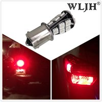 Wholesale Toyota Canbus - WLJH Car Tail Light 1156 LED Canbus 21SMD Bau15s  PY21W 7507 Or Ba15S P21W Auto Brake Reverse Lamp DRL Rear Parking Bulbs