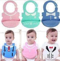 Wholesale apron towels resale online - 18 design Baby bibs Waterproof silicone feeding Infant saliva aprons Babys Anti Dirty Saliva Towel Baby Eating Burp KKA5701