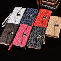 Wholesale Tpu Smartphone Case - Luxury Flip Phone Case Full Body Protection for IPhone 6 6s 7 8 Plus Leather Letter Printing Smartphone Cover for Samsung S5 S6 S7 Edge Note