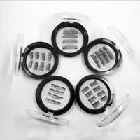 Wholesale d box price resale online - 2 Magnet False Eyelash Plastic box Boxes Price Full Length Strip Magnetic eyelashes per box Natural Beauty