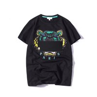 Wholesale head sleeves - 2018 Summer Brand Designer T Shirts For Men Tops Tiger Head Letters Embroidery T Shirt Mens Clothing Short Sleeve Tshirt Women Tops S-2XL