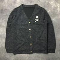 japão natural venda por atacado-2019SS NOVO 1 m: 1 Alta Qualidade Mastermind Japão HOMENS MULHERES camisola De Lã hip hop MMJ Skeleton Skate camisola S-XXL