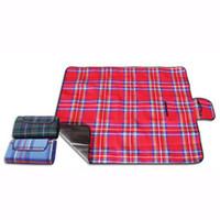 wasserdichte pads großhandel-2018 neue Picknick Outdoor Blanket Strand Camping Matte Dual Schichten für Outdoor-Handy-Matte Tote Wasser-Resistant Pad