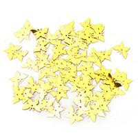 gold konfetti großhandel-350pcs neue Tabelle Party Scatter Konfetti Gold Silber Schmetterling Hochzeit Dekor