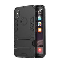 ingrosso casi di armatura-2018 New Fashion Iron Man Cassa del telefono per IPhone X 7/8 7 / 8p 6 / 6s 6 / 6s 5 / 5s / se Supporto per armatura Protezione sottile Cassa del telefono durevole TPU PC