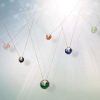 ingrosso collana della perla 925 della madre-Amulette Bracciale Francia Marca Fortunato Collana Asimmetrico Classico Design da donna Catena da parata da festa Madreperla Per sempre Amore