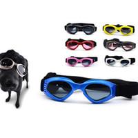 lunettes de soleil chiot achat en gros de-Lunettes de chien de mode élastique pliable lunettes de soleil pour animaux de compagnie protection contre le soleil vent chiot lunettes facile à transporter 13 5bj T