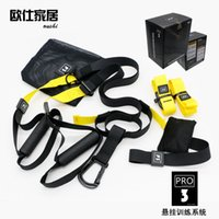 cuerda para el ejercicio al por mayor-Bandas de resistencia Hangin Sport Gym Workout Fitness Suspension Exercise Tire Cuerdas Correas Trainer Belt para Adultos