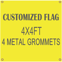 Wholesale Digital Printing Customized Flag Banner Flying Design 4x4ft 100D Polyester Banners with 4 Metal Grommets