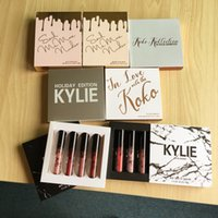 Wholesale Nude Love - 7 styles 20 sets KOKO KOLLECTION in love with koko ,nude matte limited makeup 4pcs set KYLIE Liquid matte lipstick by Kylie cosmetics